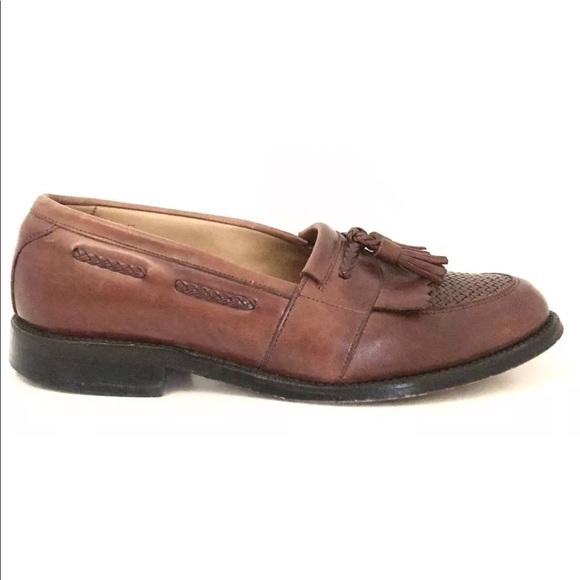 bfb5e7594763a Allen Edmonds Mens CODY Brown Tassel Loafers